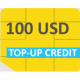 GlobalSIM 100 USD Top-up Credits