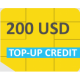 GlobalSIM 200 USD Top-up Credits
