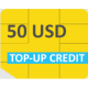 GlobalSIM 50 USD Top-up Credits